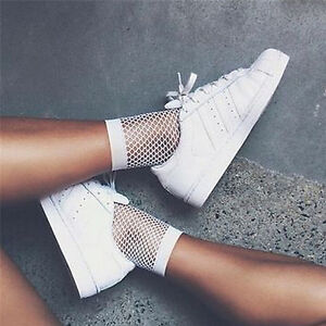 Women-White-Fishnet-Ankle-High-Socks-Lady-Mesh-Lace-Fish-Net-Short-Socks-SK-KY