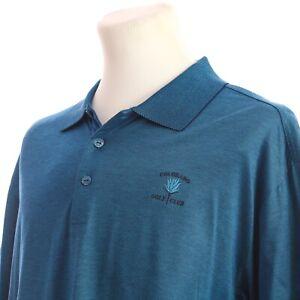 Bugatchi-Uomo-Egyptian-Cotton-Short-Sleeve-Polo-Shirt-Blue-Stripe-Mens-Large