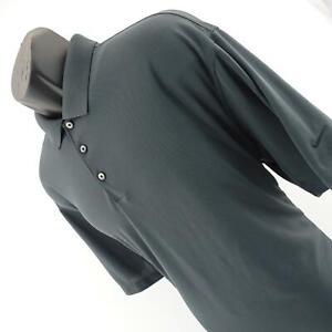 Mens-Nike-Golf-Dri-Fit-Gray-Performance-Short-Sleeve-Golf-Polo-Shirt-Size-XL