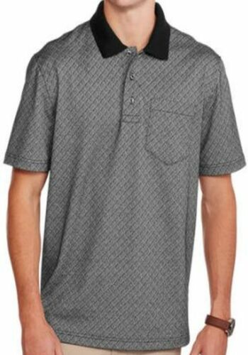 Men/'s Pattern Short Sleeve Polo Shirt With Pocket