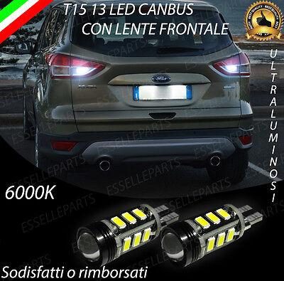 LAMPADE RETROMARCIA 13 LED T15 W16W CANBUS PER FORD KUGA 3 III 6000K NO ERROR
