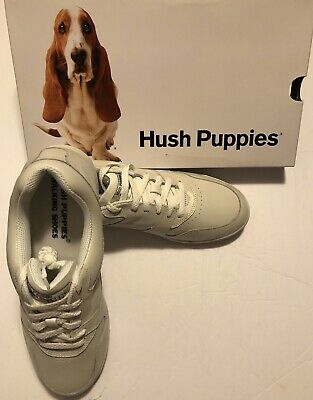 "NIB Women/'s Hush Puppies White Leather /""UPBEAT/"" Walking Athletic Shoes"