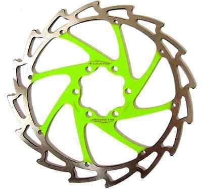 Alligator Windcutter APPLE GREEN Disc Rotor 160mm c95g Cannondale Merida bolts
