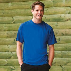 Russell-para-Hombre-Cuello-Redondo-Camiseta-para-Hombre-de-Manga-Corta-Top-Informal-Llano-Ropa-De