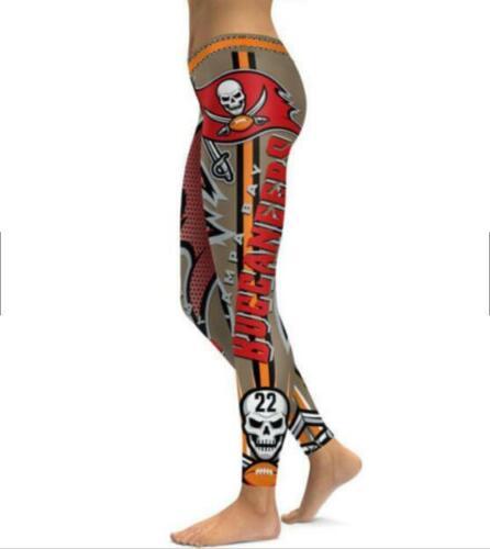 Wide belt legging Tampa Bay Buccaneer No.22 Printed High waist legging S-4XL