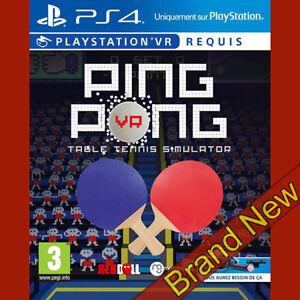 Ping-PONG-VR-tennis-da-tavolo-Simulator-PlayStation-4-PS4-3-e-sigillati-Nuovo-di-zecca