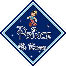 Disney Prince On Board Car Sign – Baby On Board – Pinocchio DB