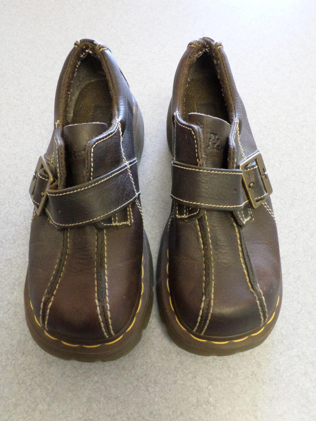 Dr. Doc Martens dark brown leather, buckle oxfords. Women's 6 (euro 37)