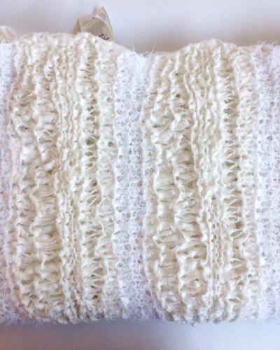 Cream /& White Stripe Cotton Blend Knitted Scarf Women/'s Fashion
