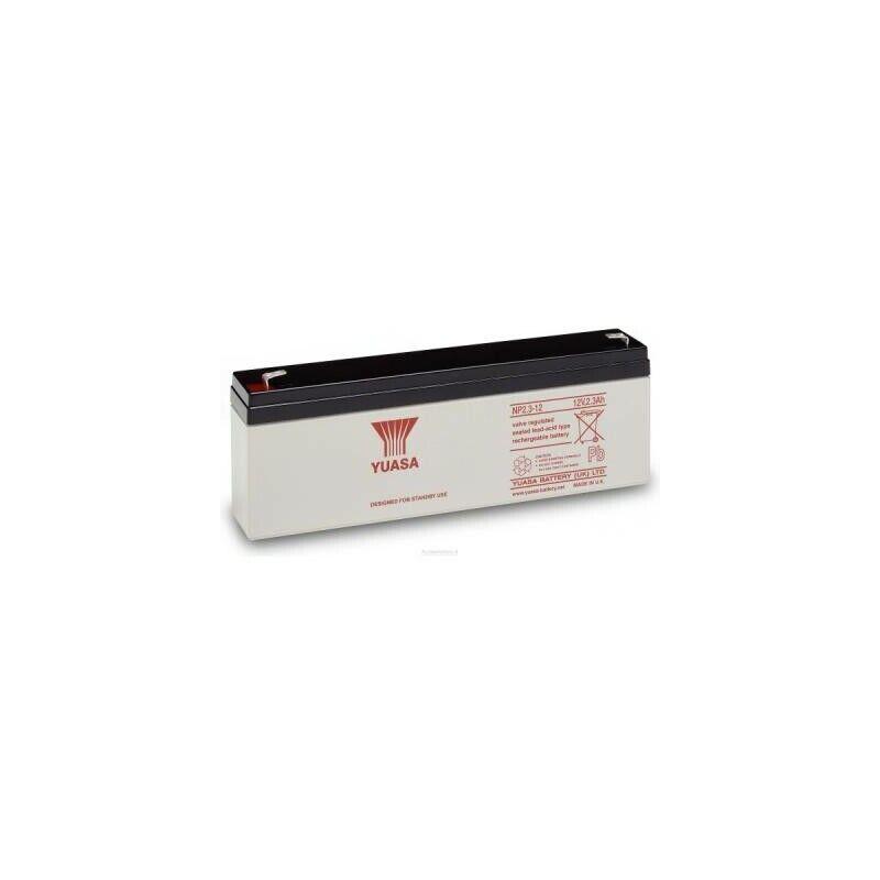 UK BS453 Yuasa NP2.3-12 Rechargeable Lead Acid Battery 12v / 2.3 Ah