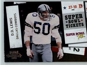 2010 Playoff Contenders Super Bowl Ticket #31 D.D. Lewis - Dallas Cowboys