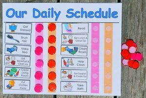 daily chore chart for multiple kids you choose chores and colors