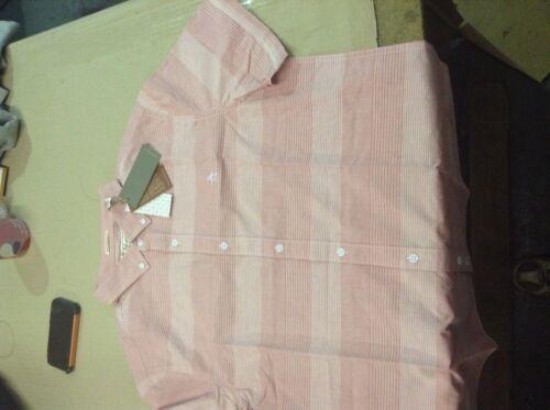 Original Penguin Red Short Sleeve Oxford Shirt pink