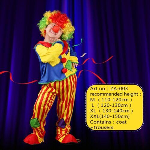 Children/'s Day Purim Halloween Circus Clown Costumes Kids Funny Clown Costume