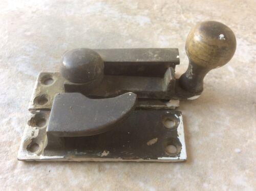 Old Vintage Brass Sash Wndow Fastener