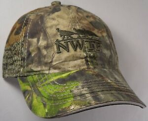 550dc6f27a6e9 Hat Cap Licensed NWTF National Wild Turkey Mossy Oak Camo Mesh ...