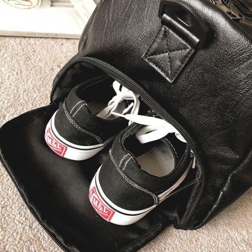 Bag Gym Leather Travel Luggage Men Overnight Duffel Genuine Weekender Outdoor