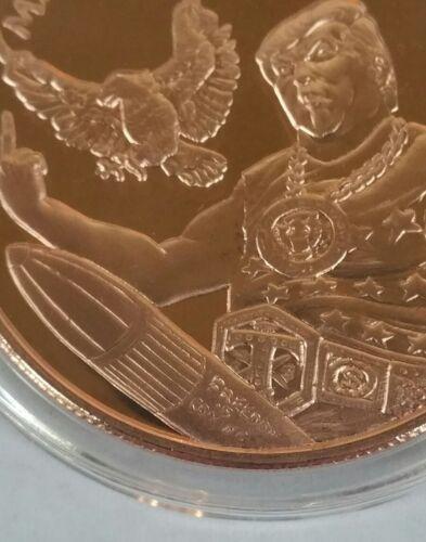 """Donald Trump 1 OZ .999 copper  /""""MAKE MERICA GREAT AGAIN/"""" silver shield RARE 20"""