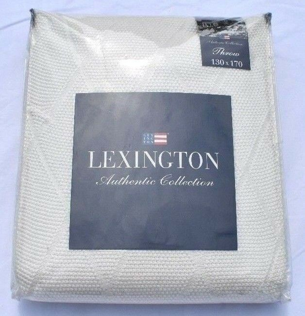 Lexington Authentic Collection Diamond Knitted Throw 130 x 170cm in Cream New
