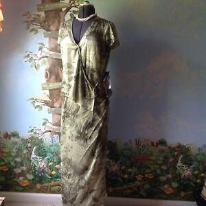 4af2e4affba Josephine Chaus Women s Floral Green 2 Piece Silk Skirt Suit Size 10 ...