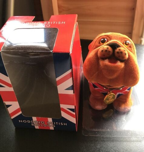 Posa British Bulldog Inglese Union Jack Panciotto Grande Regalo Souvenir