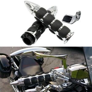 1-034-Chrome-Hand-Grips-Fits-Yamaha-Royal-Road-Star-Warrior-Midnight-XV-1600-1700
