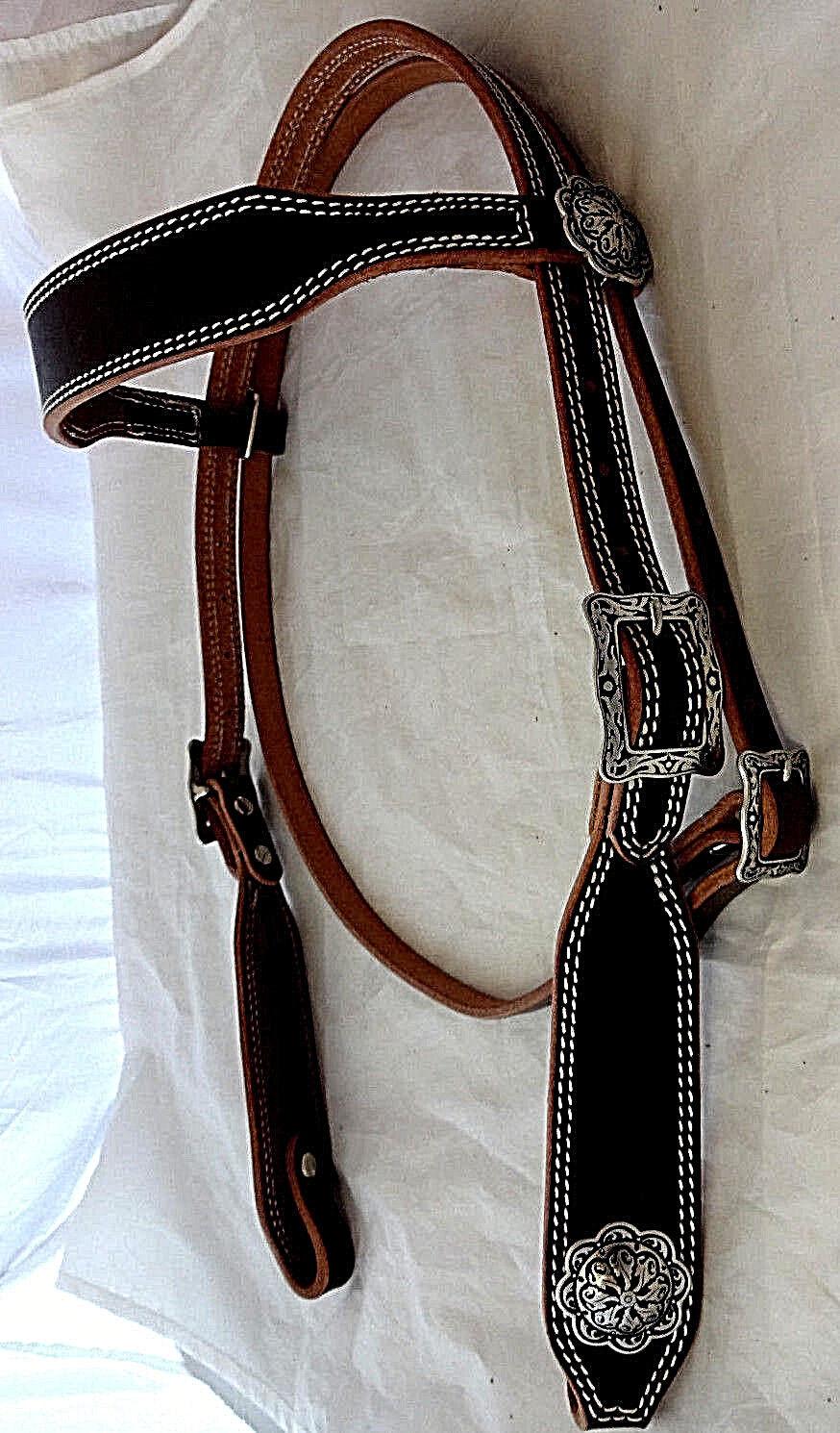Doppelschlafstiftung Hermann Oak Leather Wide Headstall Jeremiah Watt Conchos NW