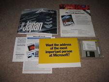 """Microsoft Flight Simulator 5.0 Scenery Pack - Japan 3.5"""" Diskette - Rare"""