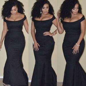 Plus Size Mermaid Satin Evening Dress Pageant Party Formal ...