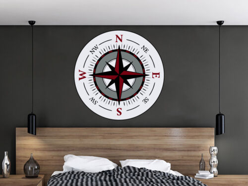 Wall Decals Compass Colorful Murals Travel Stickers Nautical Theme Bedroom En65 Stickers Home Garden
