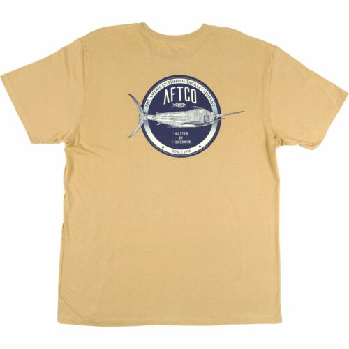 40/% Off AFTCO SS Skylight Tee Shirt Marlin Fishing Pick Size