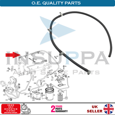 FUEL OVERFLOW LEAKOFF PIPE FOR MERCEDES C-CLASS CLC CLK E-CLASS A6110700032