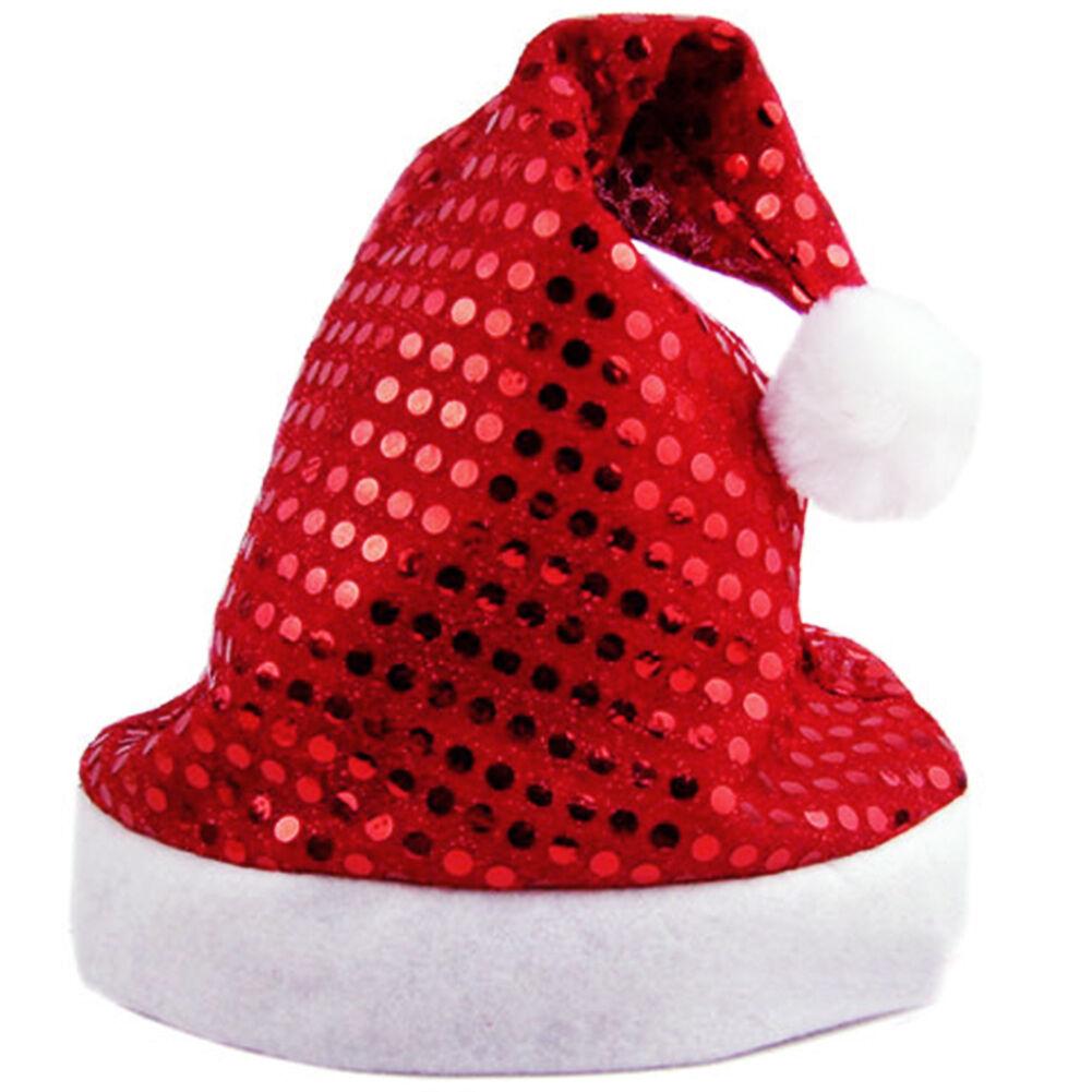 Cappello Natalizio Sequin-Sheen Babbo Natale Cappello Natale Accessori da Festa