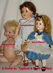 Doll Doctor Re-String YOUR Composition and Bisque Head 13 Part Doll Body
