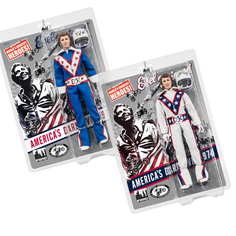Evel Knievel 12 Inch Action Figures Series 1 Re-Issue  Set of 2 Figures