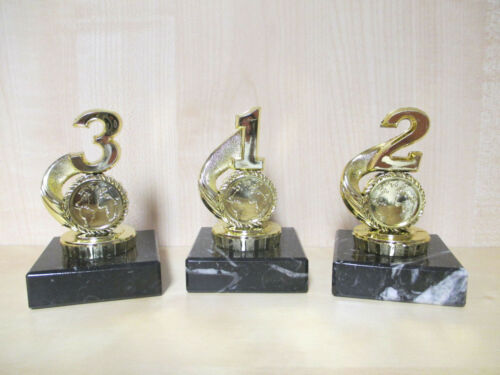 1,2,3, Leichtathletik Pokal Figur 3er Serie Turnier Kids Trophäe Emblem Laufen
