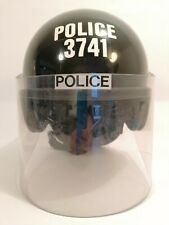 Genuine British Police Complete Anti Riot Protective Helmet With Face Shield 58