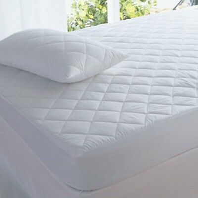 New Super King Size 100% Cotton Mattress Protector 204 x 204 Bed Healthguard