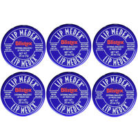 Blistex Lip Medex Cooling Relief For Sore Lips & Moisture 0.25 Oz Each (6 Jars) on sale