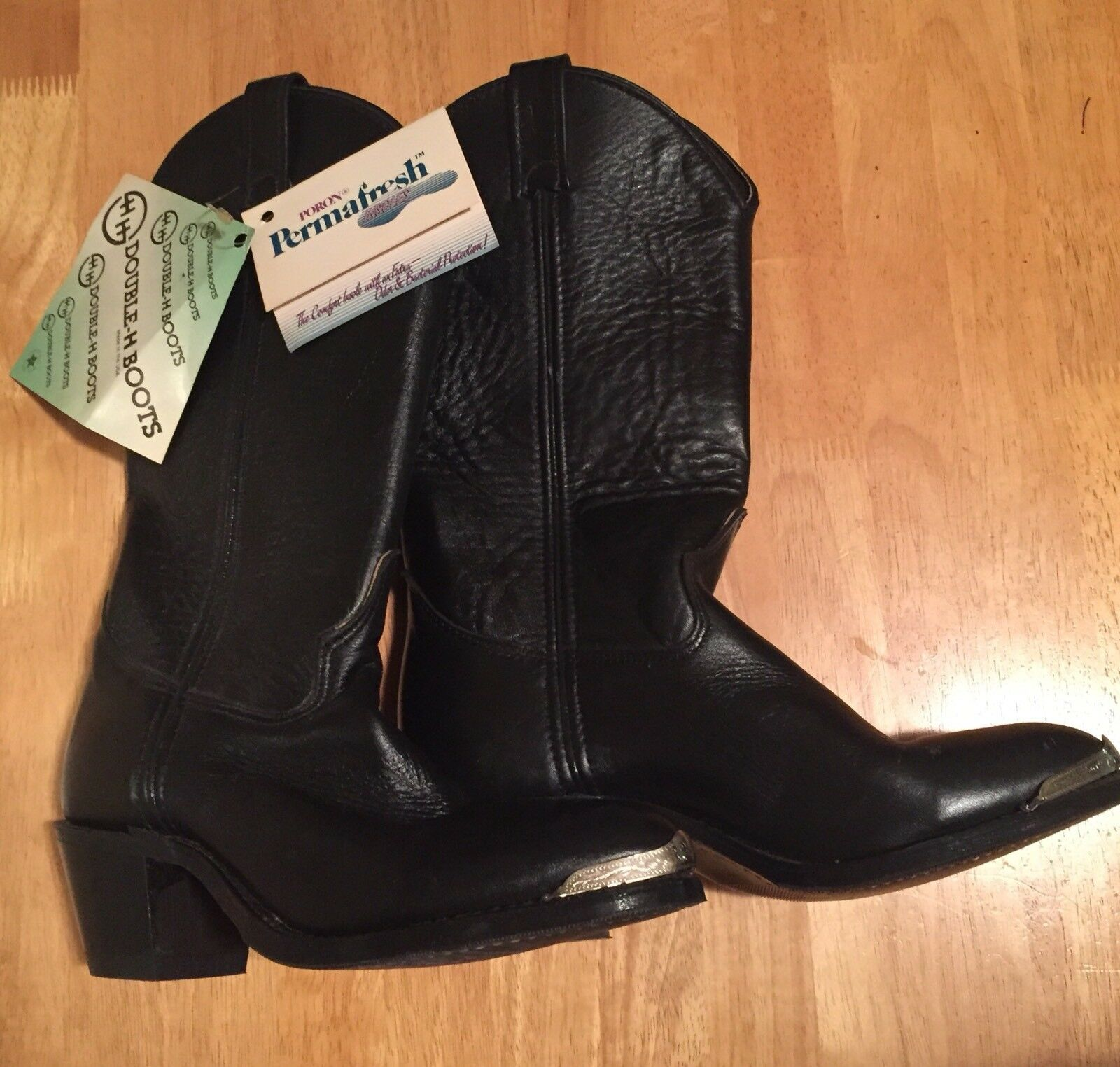 Double H boots Western Cowboy Ranch Wear Women's size 7M Black -NWT