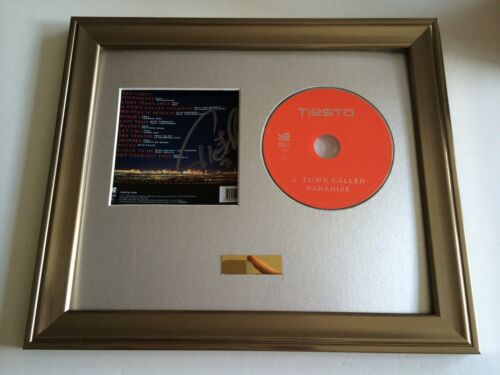 SIGNED//AUTOGRAPHED TIESTO A TOWN CALLED PARADISE CD FRAMED PRESENTATION RARE