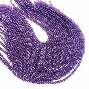 10-Strands-AAA-Amethyst-Hydro-Gemstone-Faceted-Approx-3-3-5mm-Beads-13-034-Long