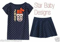Gymboree Prep Perfect Outfit Size 7 Girls Just Be U Top Tee,matching Skirt