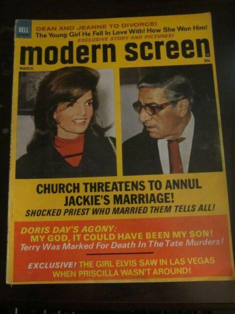 Modern Screen March 1973 Jackie Kennedy Onassis Burt