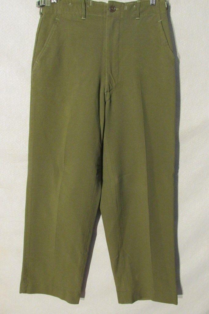 F1727 Military 70's Wool Pants Men's 30x31