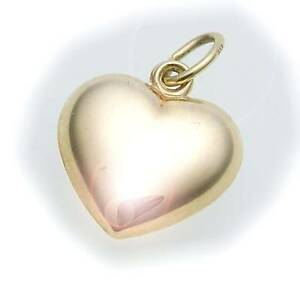 Heart-Pendant-3-Dimensional-Polished-333-Gold-8kt-Quality-Yellow-Gold-Ladies