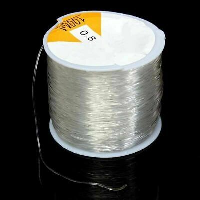109yds//Roll Clear Elastic Beading Threads Stretch Cords String Spool Tiny 0.8mm