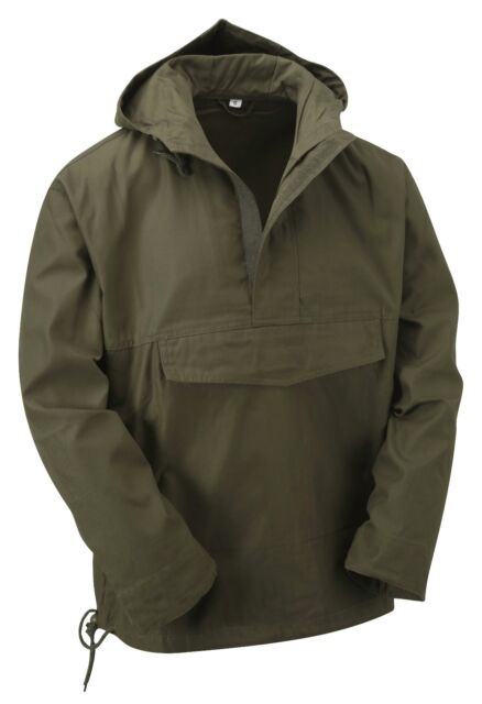 NEW LATEST STYLE HOODED ANORAK SMOCK JACKET XXS-XXL GREY