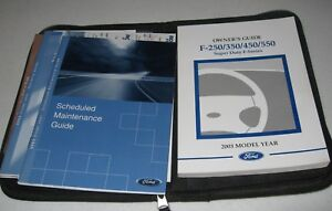 Other Car Manuals FORD 2001 OWNERS MANUAL F250 F350 SUPER DUTY ...