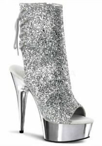 d35761a17c46 Image is loading Pleaser-DELIGHT-1018G-Womens-6-039-039-Heel-
